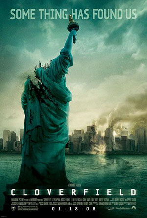 A headless Statue of Liberty stands in New York Harbor; the city burns in the background.