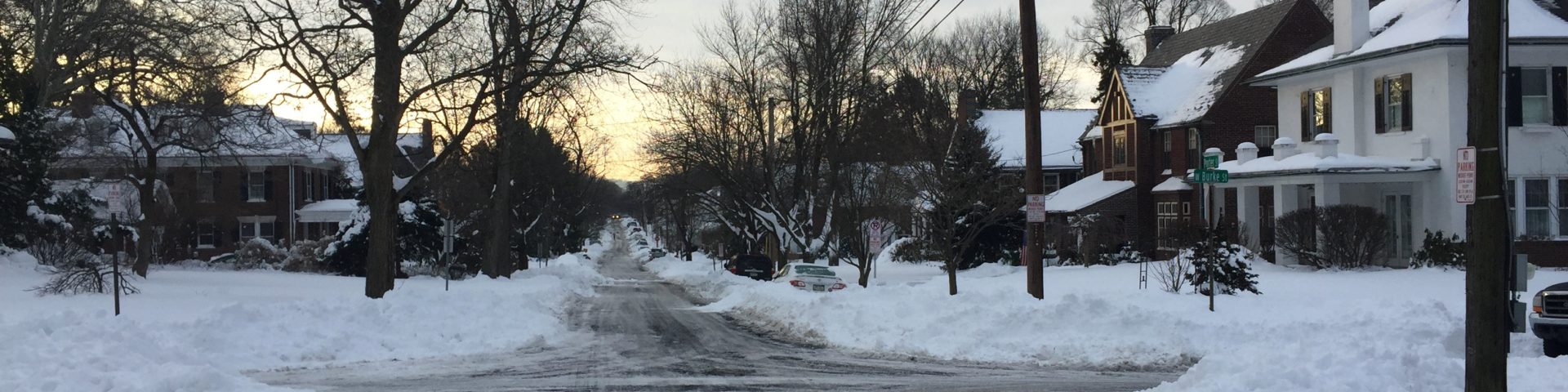 The snowy aftermath of January 2016's blizzard. It sidelined my exercise regime for a few days.